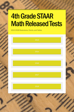 4th Grade STAAR Math Released Tests