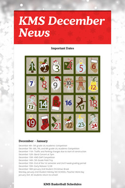 KMS December News