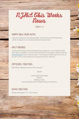 NJHS This Weeks News