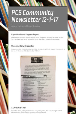 PCS Community Newsletter 12-1-17