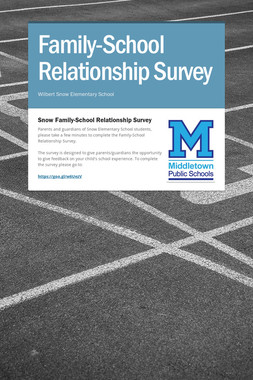 Family-School Relationship Survey