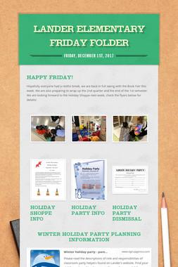 Lander Elementary Friday Folder