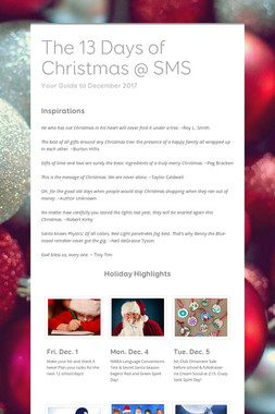 The 13 Days of Christmas @ SMS