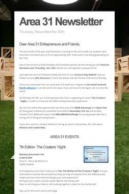Area 31 Newsletter