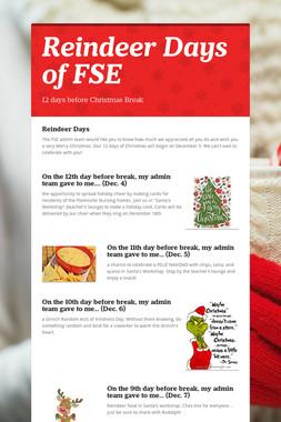 Reindeer Days of FSE