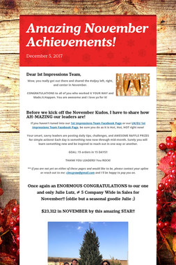 Amazing November Achievements!