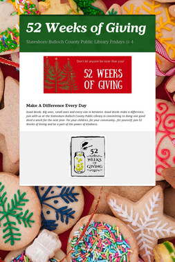 52 Weeks of Giving