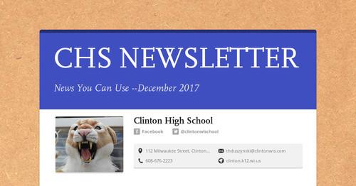 CHS NEWSLETTER   Smore Newsletters for Education