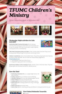 TFUMC Children's Ministry