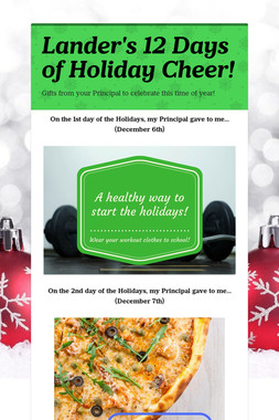 Lander's 12 Days of Holiday Cheer!