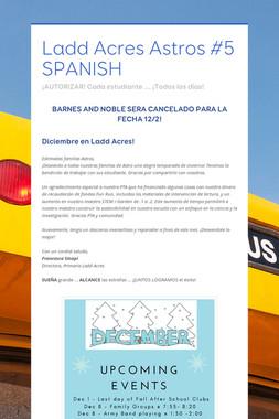Ladd Acres Astros #5 SPANISH