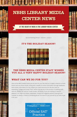NBHS Library Media Center News