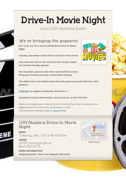 Drive-In Movie Night