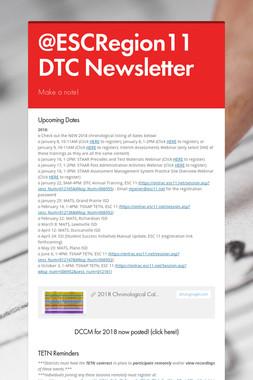 @ESCRegion11 DTC Newsletter