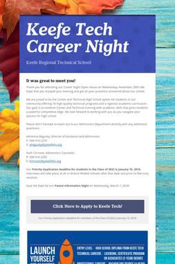 Keefe Tech Career Night