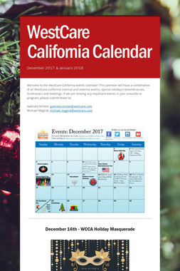 WestCare California Calendar