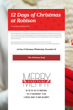 12 Days of Christmas at Robison