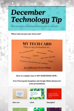 December Technology Tip