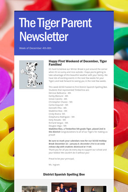 The Tiger Parent Newsletter