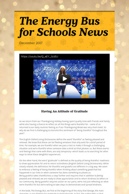 The Energy Bus for Schools News