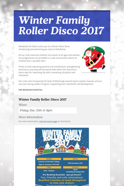 Winter Family Roller Disco 2017