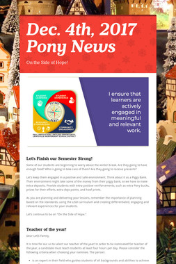 Dec. 4th, 2017 Pony News