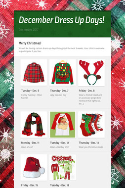 December Dress Up Days!