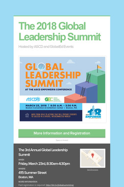 The 2018 Global Leadership Summit