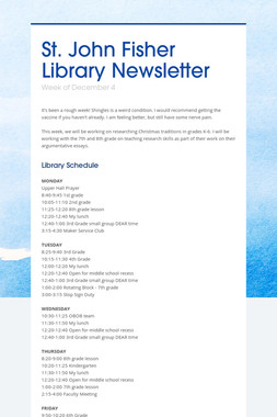 St. John Fisher Library Newsletter