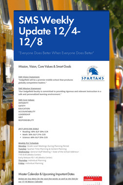 SMS Weekly Update 12/4-12/8