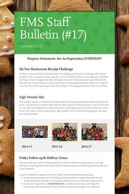 FMS Staff Bulletin (#17)
