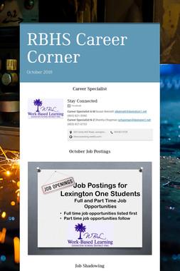 RBHS Career Corner