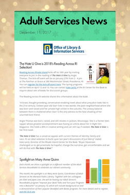 Adult Services News