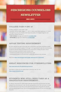 @ESCRegion11 Counselors Newsletter