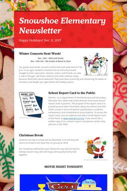 Snowshoe Elementary Newsletter