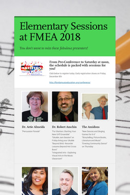 Elementary Sessions at FMEA 2018