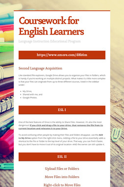 Coursework for English Learners