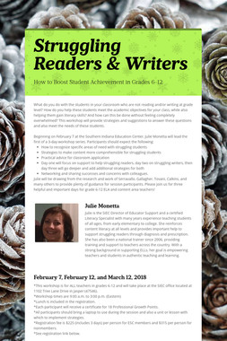 Struggling Readers & Writers
