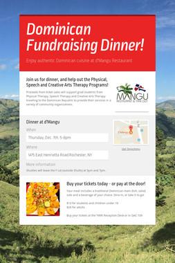 Dominican Fundraising Dinner!
