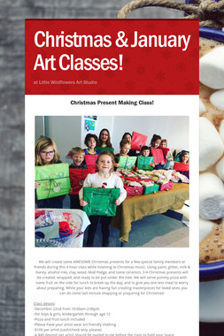 Christmas & January Art Classes!