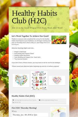 Healthy Habits Club (H2C)