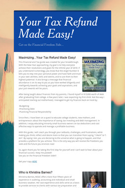 Your Tax Refund Made Easy!
