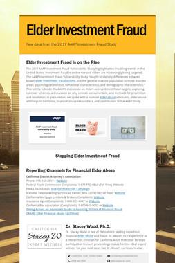Elder Investment Fraud