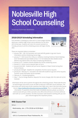Noblesville High School Counseling