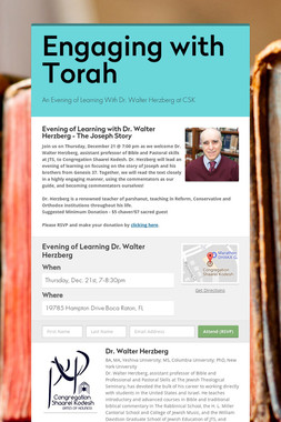 Engaging with Torah