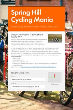 Spring Hill Cycling Mania