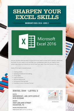 Sharpen Your Excel Skills