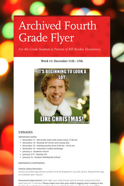 Archived Fourth Grade Flyer