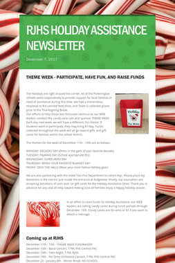RJHS HOLIDAY ASSISTANCE NEWSLETTER