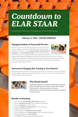 Countdown to ELAR STAAR